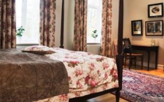 Krokstad Herrgård hotel room